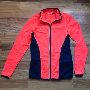 NWOT Orange & Navy Track/Running Jacket